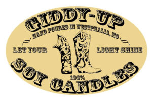 Giddy Up Soy Candles Logo llc