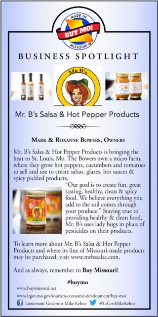 Business Spotlight: Mr. B's Salsa and Hot Pepper Products