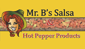 Mr. B's Salsa and Hot Pepper Products Logo
